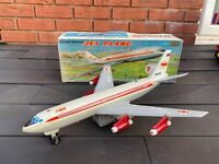 Marx Toys Japan TWA Jet Plane In Its Original Box - Working RARE Jet Liner