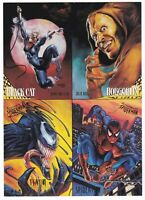 1995 Fleer Ultra Spider-Man Promo 4 Card Uncut Sheet Venom Black Cat Hobgoblin