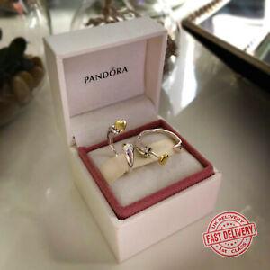 PANDORA Two Hearts Hoop Silver Earrings - 296576