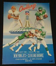 1988 NEW YORK JETS vs CLEVELAND BROWNS - MONTREAL OLYMPIC STADIUM - NFL PROGRAM