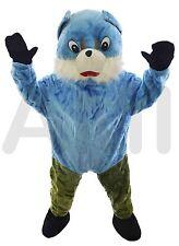 Blue chipmunk deluxe adulte mascotte costume grosse tête robe fantaisie unisexe C6