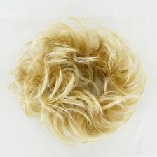 Scrunchie Hairpiece ponytail very light golden blond hair wick 17/24bt613 peruk