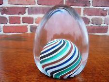 Vintage Mid Century Modern Murano Italian Art Glass Signed Cenedese Paperweight