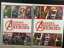 MARVEL AVENGERS EARTH'S MIGHTIEST HEROES 1 & 2 Oversized HC HARDCOVER SET