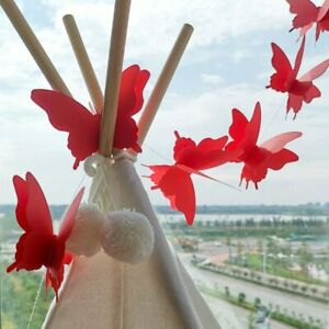 3D Paper Butterfly Garland Bunting Wedding Party Birthday Festival Hanging decor