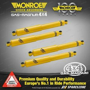 Monroe Front + Rear GAS MAGNUM TDT Shock Absorbers for Nissan Patrol MQ MK 4WD