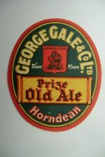 MINT GALE HORNDEAN PRIZE OLD ALE BREWERY BEER BOTTLE LABEL