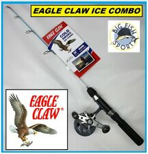 "Eagle Claw Cold Smoke Ice Fishing Rod And Reel Combo 24"" Length Free Usa Ship!"
