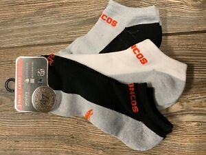 NWT Adult Denver Broncos '47 Brand 3 Pack of Multi-Color Logo Socks Large