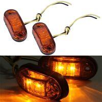 Amber Orange LED Side Clearance Signal Lights Truck Trailer Boat Caravan