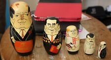 Authentic Models Holland Nesting Dolls featuring Gorbachav and Stalin