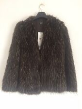 Collectable Kate Moss Faux Fur Coat Size 6- free postage