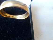 22ct Gold Wedding Ring. Weight 3gms.  Size 0 1/2 Bimingham Assayed.  Dated 1906.