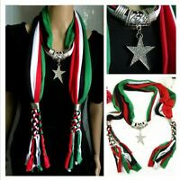 Fashion Handmade Necklace Scarf Soft Star Pendant Women's Accessory Jewelry Gift