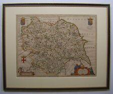 Yorkshire: antique map by Johan Blaeu, 1663