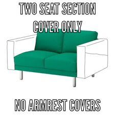IKEA NORSBORG COVER SLIPCOVE FOR 2 SEAT SECTION (loveseat) EDUM Bright Green
