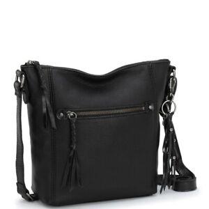 The Sak Ashland Black leather Crossbody Bag NWT $169 w/ Gift