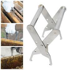 Stainless Steel Bee hive Frame Holder Capture Frame Grip Honey Bee tool C~