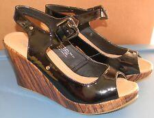 NIB BLACK WEDGE Heel Sexy SHOES* Charles Albert Hot Topic SIZE 8.5  NEW