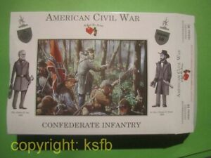 1:32 Figuren Call to Arms #16 US Bürgerkrieg Südstaaten Soldaten Confederate Inf