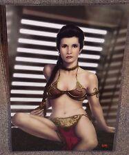 Star Wars Princess Leia Slave Glossy Art Print 11 x 17 In Hard Plastic Sleeve