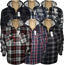 Men's Fur Lined Hoang Thermal Quilted Full Sleeve Lumberjack  Hooded Work Shirts