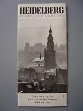 Ancien dépliant touristique  Guide de HEIDELBERG