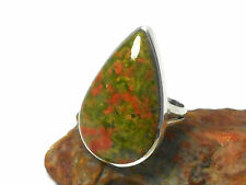 UNAKITE   Sterling  Silver  925  Gemstone  RING  -  Size: O  -  Gift  Boxed
