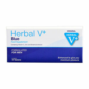 10 HERBAL V+ BLUE *EXTRA-STARK* SOFORT POTENZMITTEL SEXPILLEN POTENZPILLEN BLAU