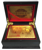 New 24K GOLD PLATED PLAYING CARDS POKER GAME DECK With High end WOODEN GIFT BOX