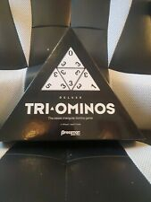 Triangle Domino Game Pressman Tri-Ominos Deluxe Game NEW And SEALED In Box