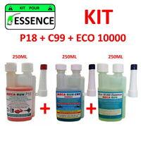 "MECARUN - KIT ADDITIF TRAITEMENT ""ESSENCE"" P18 + C99 + ECO10000 - 3x250ml"