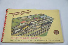 FLEISCHMANN TRACK LAYOUTS FOR MODEL RAILROADS H0 GAUGE BY H J SCHULTZE