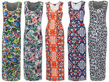 Scoop Neck Full Length Floral Dresses for Women
