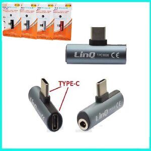 ADATTATORE CONVERTITORE DA USB TYPE C a JACK 3,5mm SUPPORTA MUSICA + RICARICA
