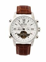 Constantin Durmont Herren Armbanduhr Analog Automatik Uhr Lederarmband Braun
