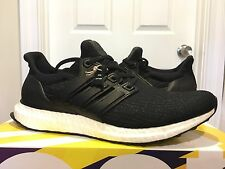 ADIDAS ULTRA BOOST BLACK LEATHER CAGE LTD 3.0 BA8924 CORE NEW IN BOX DS US SZ 9