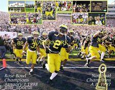 MICHIGAN WOLVERINES FOOTBALL 1997 NATIONAL & 1998 ROSE BOWL CHAMPIONS 8x10 PHOTO