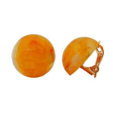 Clip 18mm Gelb-orange-weiß marmoriert