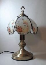 "Kitten Cat Theme Antique Brass Finish Base Desk Table Touch Lamp 14.25""H"