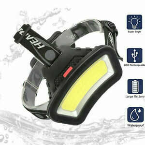 80000LM COB LED Headlamp Headlight Torch USB Rechargeable Flashlight Work Light