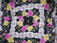Beau foulard  châle vintage  100 coton  90cm x 90cm BERIVAN TBEG Scarf