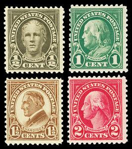 Scott 551-554 1923 ½c-2c Perforated 11 Flat Plate Issues Mint Fine NH Cat $9.85