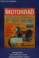 Motorrad 17/78 Honda CBX Kawa Z 1000 Yamaha XS 1100