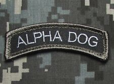 ALPHA DOG TAB TYPE A US ARMY USA MILITARY ISAF SWAT HOOK & LOOP MORALE PATCH