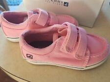 Sperry Top-Sider Girls Toddler Hallie Pink Saltwash Boat Shoes -6.5 Wide