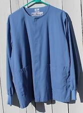 Medical Scrub Top, Med-Line Periwinkle Front Snap, Size M