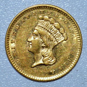 1856 $1 GOLD DOLLAR ✪ AU ALMOST UNCIRCULATED DETAILS ✪ G$1 TYPE T-3 ◢TRUSTED◣