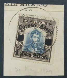 nystamps Chile Stamp # C3 Used $300 On Piece Rare Paid    S17x324