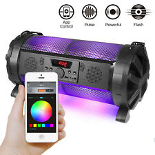 Colorful LED Bluetooth Speaker Portable Wireless Stereo Loud Super Bass FM Mic